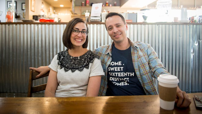 Lee and Cassie Kebler recently bought a home off of Foster Avenue in the Woodbine neighborhood. They enjoy being walking distance from neighborhood spots like Flat Rock Coffee.