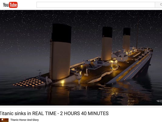 Heartbreaking animation lets you watch Titanic sink in real-time