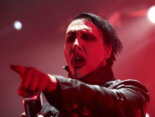 Marilyn Manson, pictured in 2015, performs at Starland
