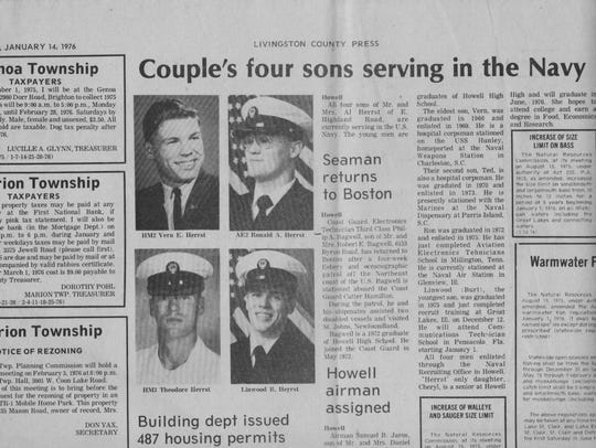 This story on Vern Herrst and his brothers appeared
