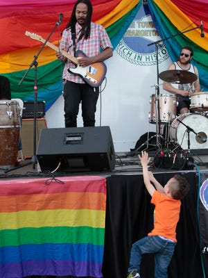 Frankie Dee and the Boys performed at the Rockland Pride Day in Nyack on June 12, 2016.