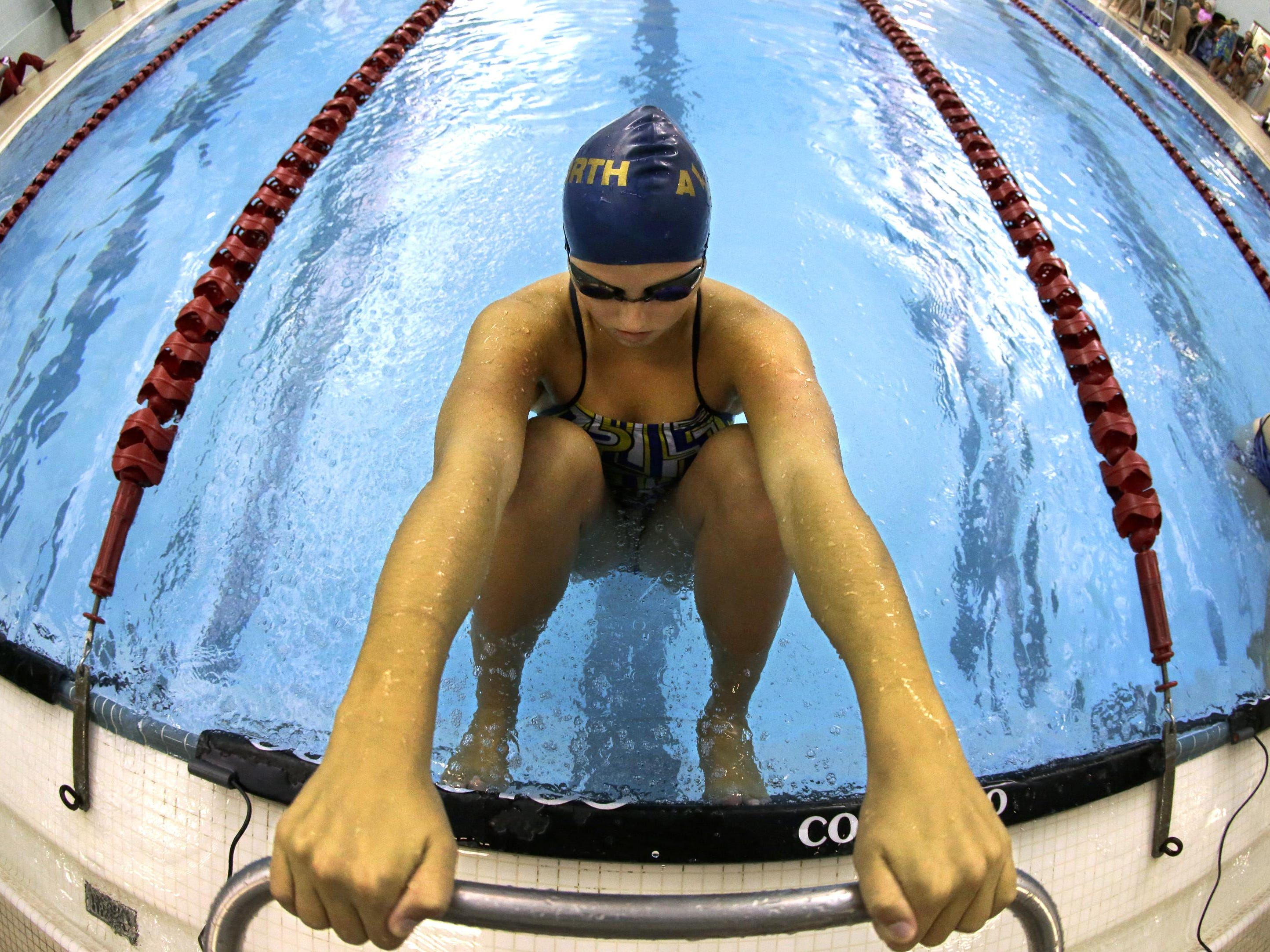 Appleton North High School's Britt Horn was named the swimmer of the year in the Fox Valley Association