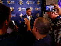 Doubters silenced, LSU's Orgeron pushes for SEC glory