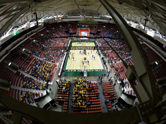 A view from the Resch Center rafters during the WIAA