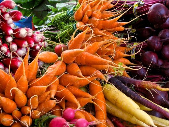 Root vegetables, like radishes, carrots and beets, will continue to be popular in 2018.