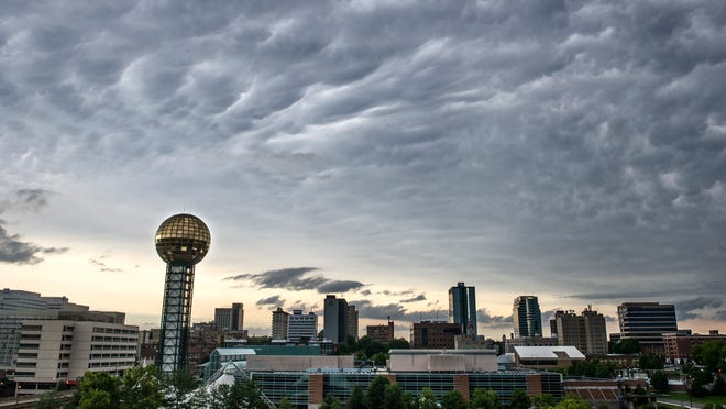 The downtown Knoxville skyline. (News Sentinel file photo)