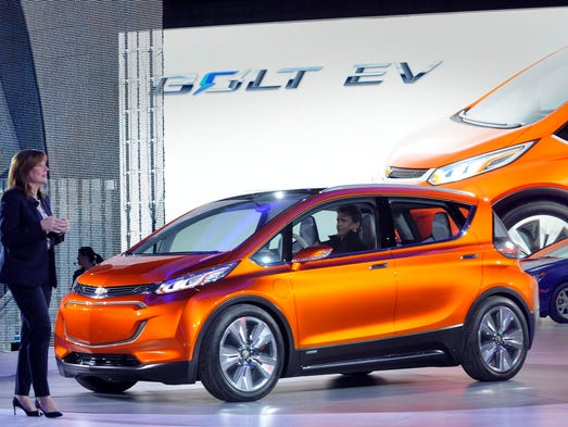 General Motors CEO Mary Barra  introduces the Chevy
