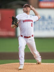 UL pitcher Colten Schmidt get the start as the Ragin' Cajuns play No. 15 rank Coastal Carolina in the first of a three game series on Friday night at M.L.Tigue Moore Field Friday May 4, 2018.