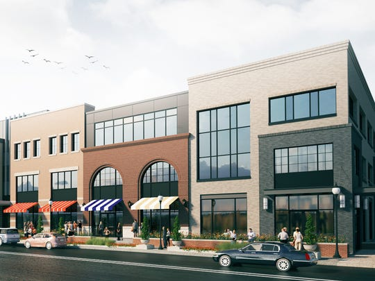 Rendering of Wagner Place, a mixed-use development in west Dearborn.