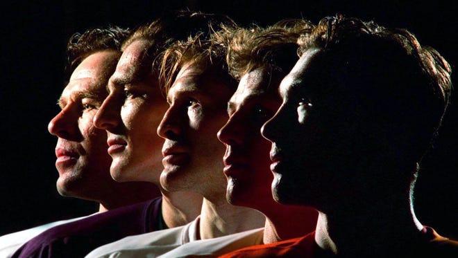 The Detroit Red Wings' Russian Five (from left to right): Slava Fetisov, Sergei Fedorov, Vladimir Konstantinov, Igor Larionov and Slava Kozlov.