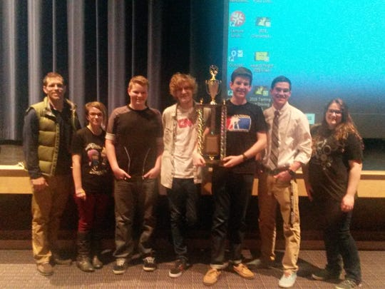 Dallastown Area High School students take home the travelling trophy for the second year in row after earning the most wins at the York/Adams High School Safe Teen Driving PSA Contest