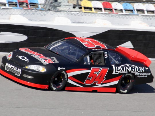 Matt Kurzejewski of Mansfield drives his Chevrolet ARCA Racing Series car during a test session at Daytona International Speedway on Jan. 16. He was fourth-quickest in the test.