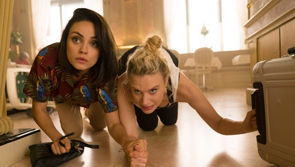 Audrey (Mila Kunis), left, and Morgan (Kate McKinnon)