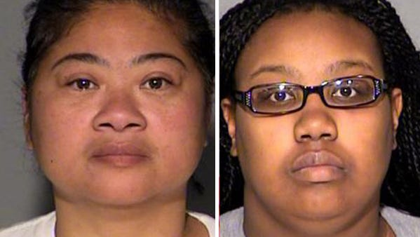 Debera Anderson (left) and Laquisha Flowers pleaded guilty to charges relating to a welfare fraud scheme.
