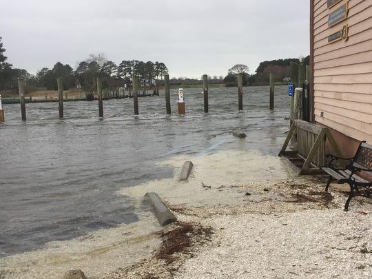 Flooding in Onancock seen March 2, 2018.