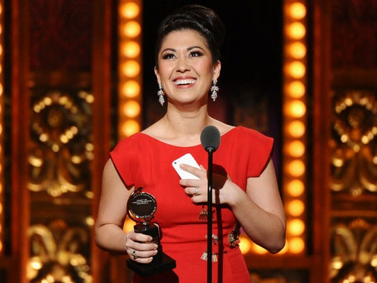 Ruthie Ann Miles in June 2015 with the Tony for best