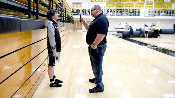 Robbinsville head wrestling coach Todd Odom films junior