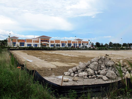 Ground is being leveled for a Heartland Dental office in front of the Goodwill store in Cameron Commons on Immokalee Road just east of Collier Boulevard.