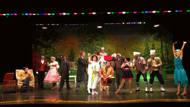 The cast of The Drowsy Chaperone which is being produced at Garden City's O'Leary Auditorium Aug. 10-13.