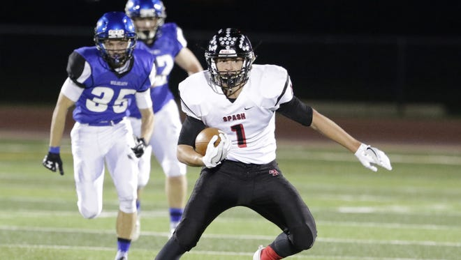 Stevens Point Area Senior High's Colton Kizewski rushed for 211 yards Friday as the Panthers edged Hudson.