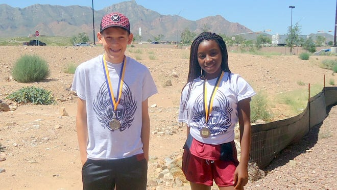 Truett Shafer and Jessika Leyva each finished 10th in their respective freshmen races at the Loretto/Cathedral Cross Country Meet Saturday in El Paso, Texas.