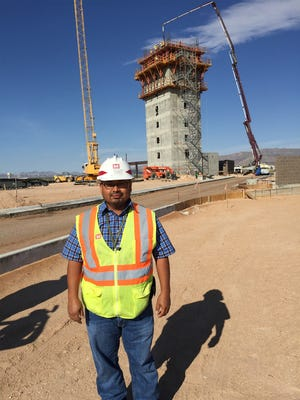 Kevin Angeles is the project engineer for the Army Corps of Engineers on the project to build a new air-traffic control tower at Biggs Army Airfield. The new control tower is slated to open in spring of 2017.