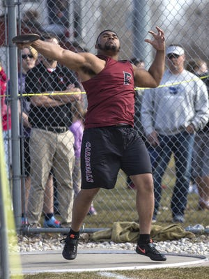 Fond du Lac junior Andrew Stonme will be competing in both the shot put and discus at the WIAA State Track and Field Meet.