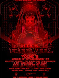 Flyer of the upcoming free week show at Austin's venue, Red 7 . Photo courtesy of Platypus Promotion and Keep Austin Live.