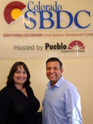 Carma Loontjer (left) and Brian Estrada are the new team helping small businesses at Pueblo Community College's Southern Colorado Small Business Development Center in Pueblo.