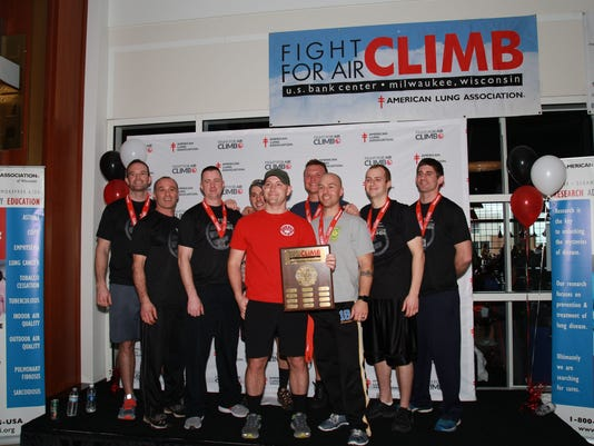 Sheboygan firefighters win stair-climb race