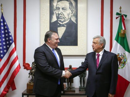 López Obrador entrega a Pompeo propuesta sobre pilares de relación bilateral