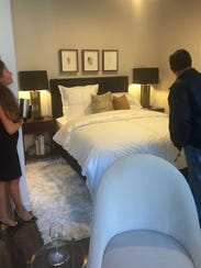Guests got a tour of rooms at the 505 residential tower.