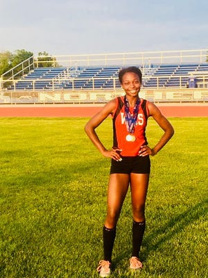 Woodbridge High School's Trinity Eason is the Home News Tribune's Girls Track Athlete of the Year