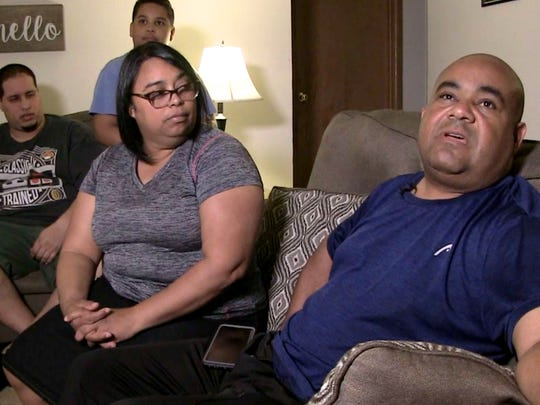 Francisco Cruz and his family had to leave Puerto Rico