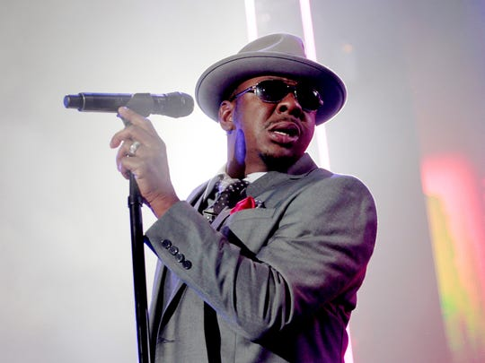 Bobby Brown, of musical group New Edition, performs