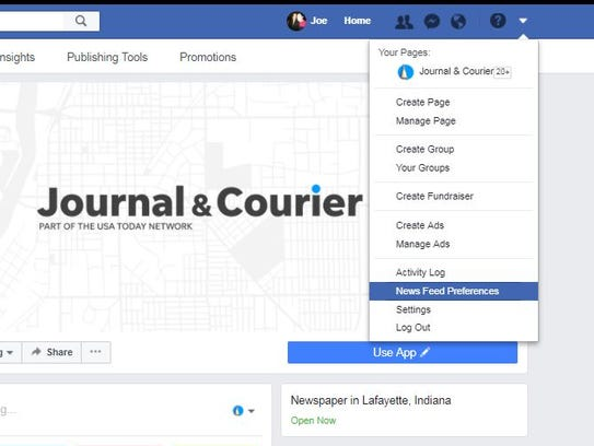Here's how to keep the J&C in your Facebook feed.