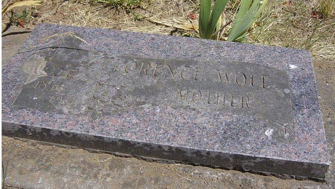 Florence Wolf, a champion gardener, died of influenza about a month shy of her 90th birthday in 1939. She was interred at Old, or Upper, Falls City Cemetery.