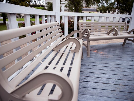 The benches at Artesian Park, which had previously