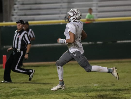 Marques Prior scores his second touchdown for Rancho