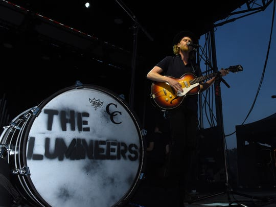 The Lumineers perform at Sunday's Speed of Sound Festival at Dutchess County Airport in Wappingers Falls.