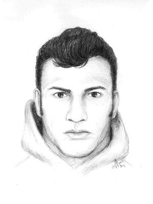 A police sketch shows the suspect Appleton police are looking for following Sunday's assault on E. Winnebago Street. He is described as 6 feet tall, slender and about 35 years old.