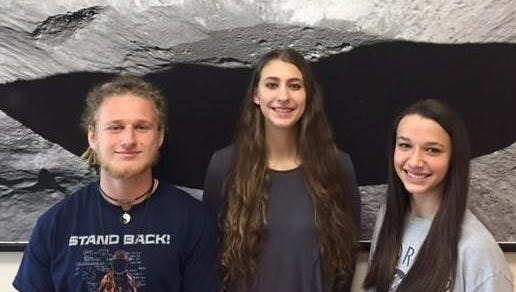 Kickapoo High School students participating in the lunar research group include Mikala Garnier, Alysa Fintel and Jonas Eschenfelder.