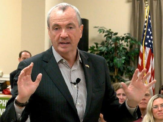 Democratic Gubernatorial candidate Phil Murphy is shown