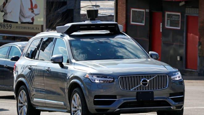 A self-driving Uber vehicle