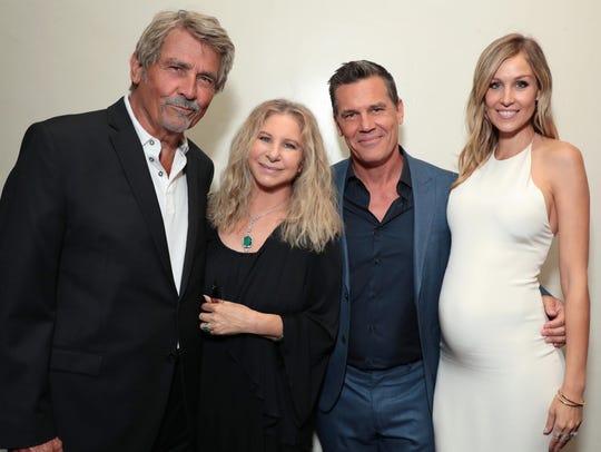 A family affair. James Brolin his wife Barbra Streisand,