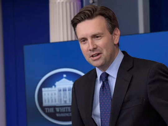 White House press secretary Josh Earnest speaks during the daily briefing at the White House in Washington, Thursday, Dec. 15, 2016. Earnest answered questions about Russian hacking, healthcare and other topics.