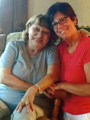 Dawn Brion (right) and Georgia Vanderslice have been pen pals ever since a helium balloon launched by Dawn in West Bend in the 1980s landed at Georgia's Pennsylvania farm.