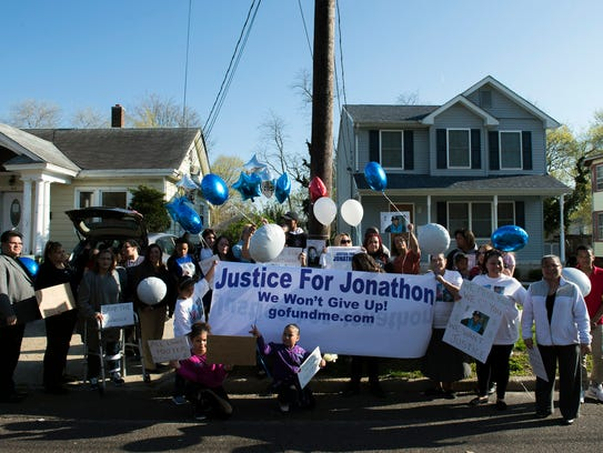 Friends and family of Jonathan Candelario gather on
