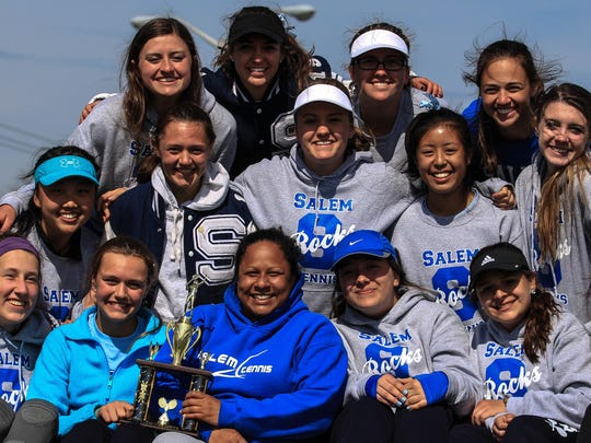 Salem's varsity girls tennis team earned the runner-up trophy at Saturday's P-CEP invitational.