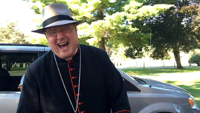 Cardinal Timothy Dolan, the archbishop of New York, at the Wappingers Falls-based St. Mary's Church on Saturday. Dolan was there to help lead a Mass.